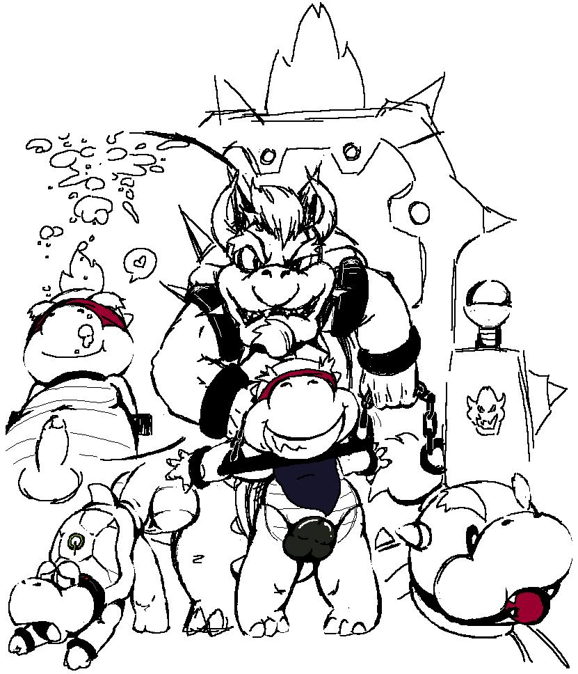 day with bowser jr a Mega man (character)