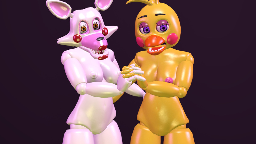 mangle toy chica fnaf and Cum on!bukkake ranch!