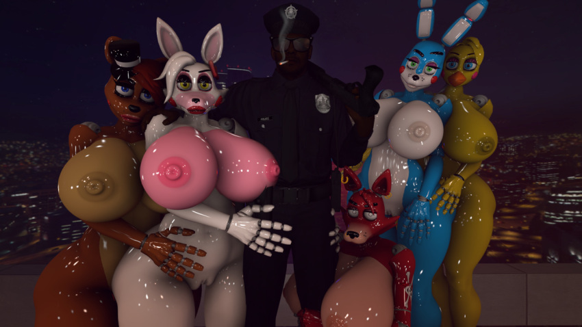 toy chica mangle fnaf and Steven universe steven and pearl